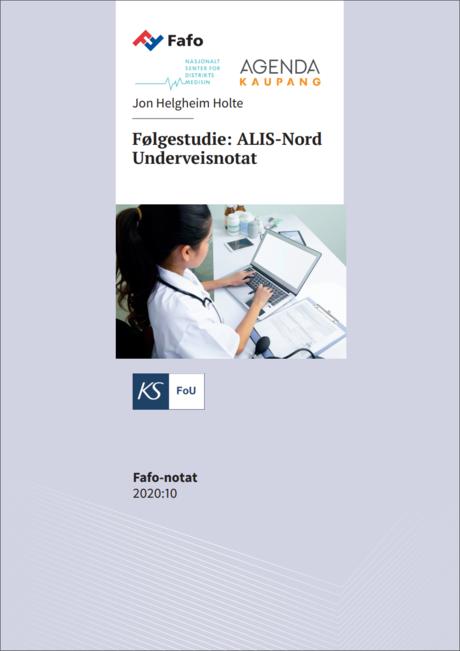 Forside Rapport følgeforskning ALIS-Nord 2020
