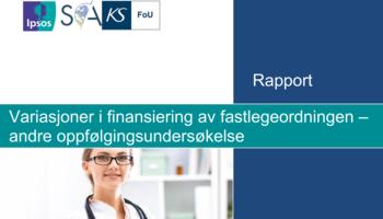 Skjermbilde rapport variasjoner i finansiering av fastlegeordningen