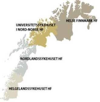 Kart Nord-Norge - regioner